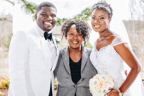 Ivy with African Bride and Groom in High Point NC